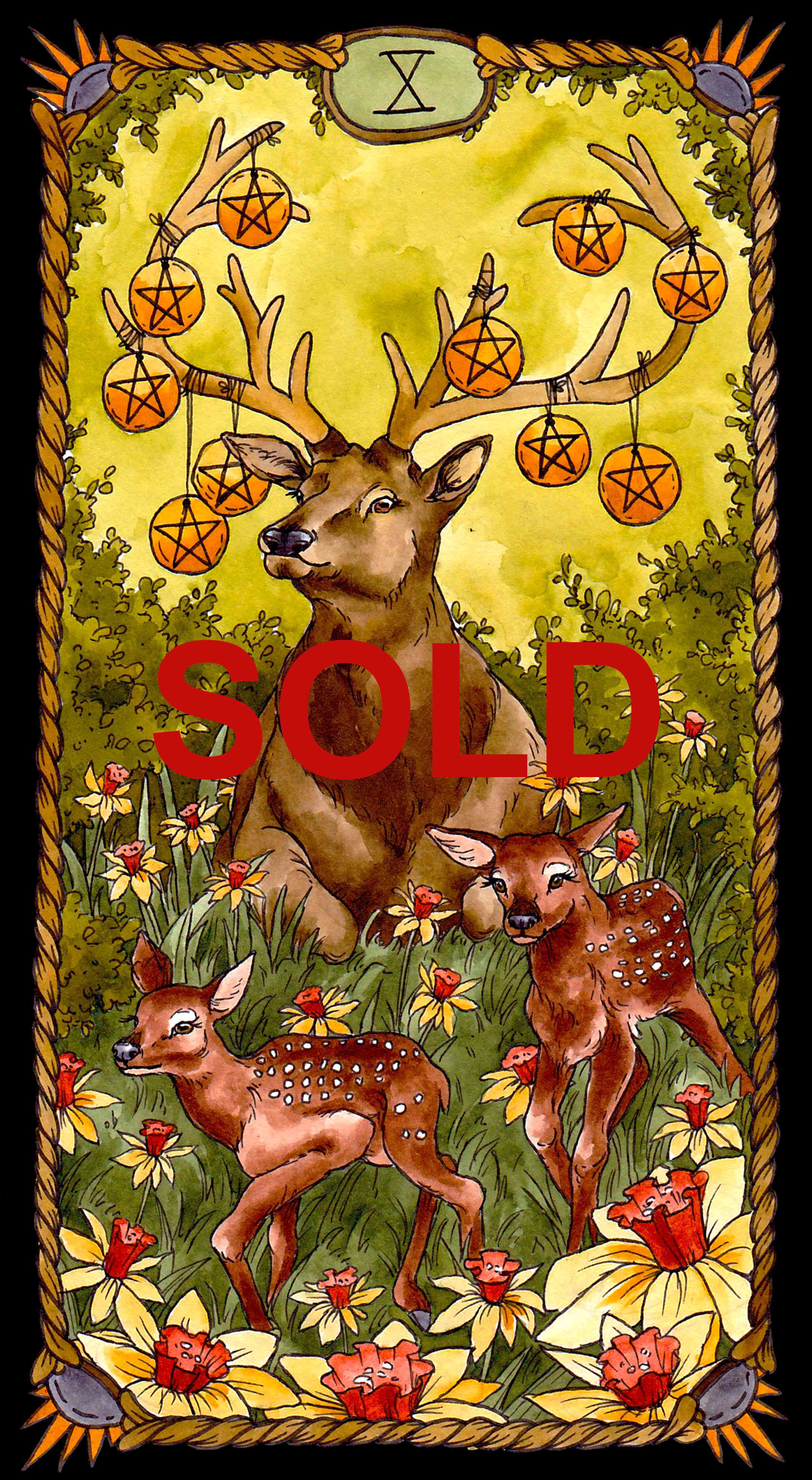 Pentacles 10 Sold
