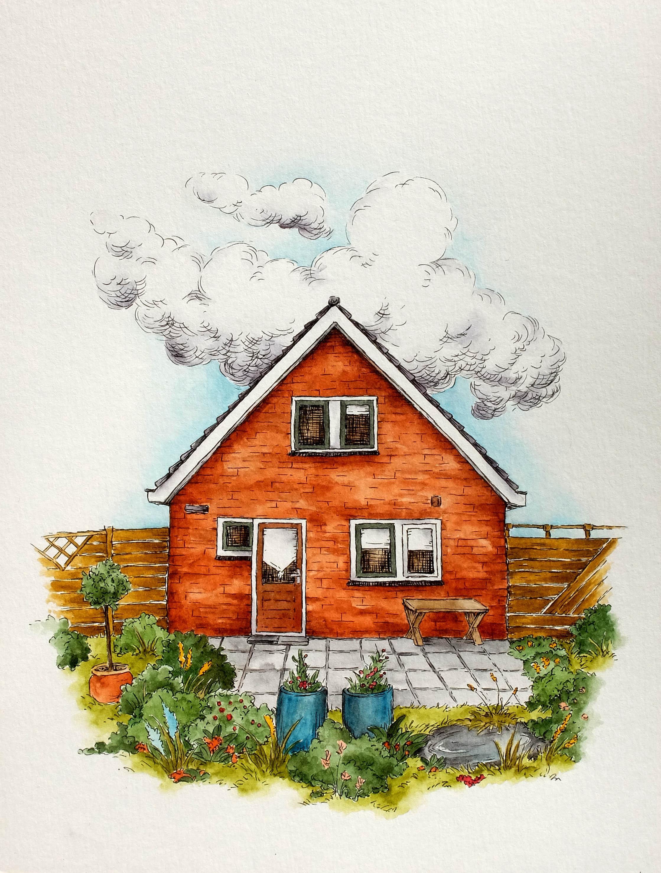 Illustratie Huis