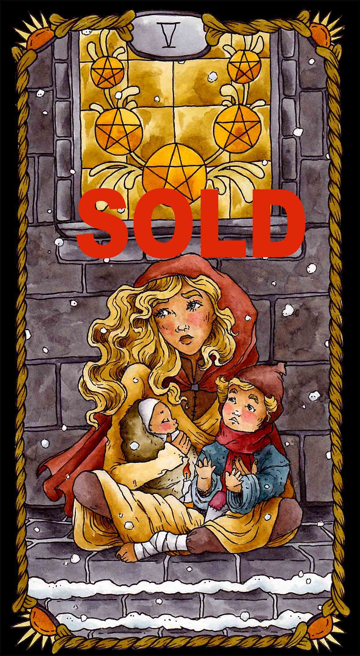 Pentacles 05 Sold