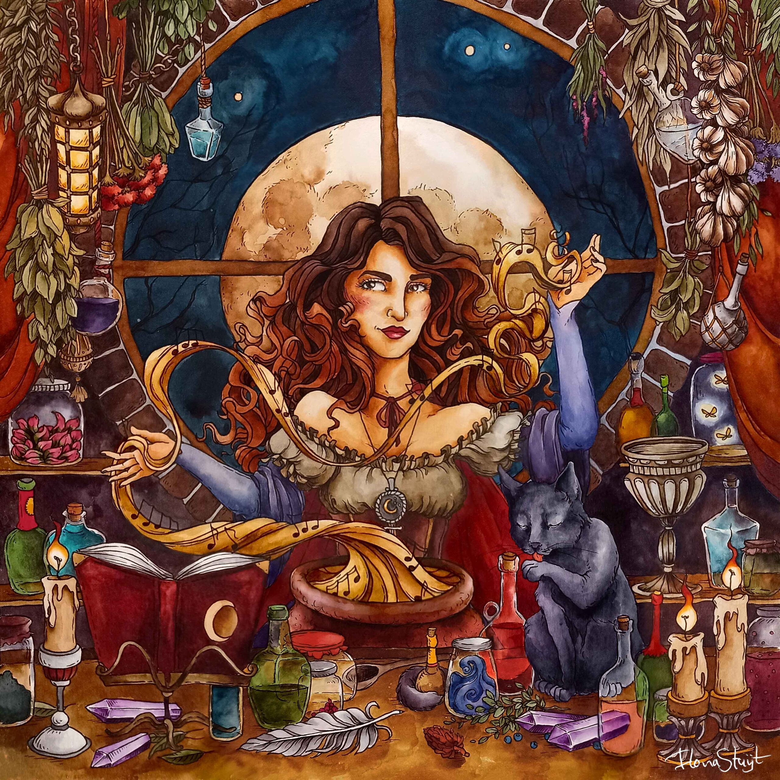 Witchy illustration Small